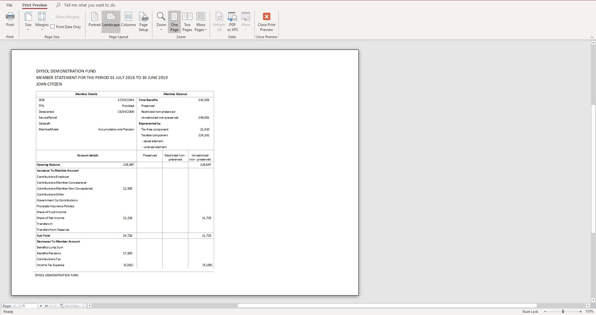 Generate Member Reports